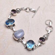 Bracelet Jewelry 13 Gms Ab 72401 Blue lace Agate Blue Topaz Ethnic Handmade