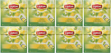 8 x LIPTON Lemon & Melissa Flavored Green Tea - 20 Silk Pyramid Bags Box