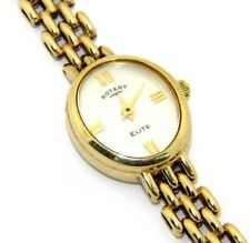 Ladies/womens 9ct/9carat gold Rotary 'Elite' wristwatch with original box