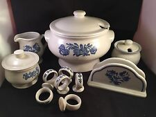 PFALTZGRAFF YORKTOWNE BLUE LOT OF 11 Soup Tureen, Honey Pot, Napkin Holder Plus