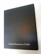Qté 10 (dix) guest guide d'information pvc dossier avec 25 poches ref noir/or