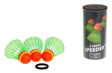 3 x CROSS Speeder® Speedminton® Speed Badminton Federball Federbälle + Windring