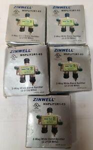 LOT 5 ZINWELL MSPLIT2R1-03 2-Way High Frequency SWM Splitter GREEN LABEL NEW