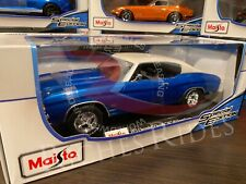 Maisto 1:18 Scale Diecast Model - 1971 Chevrolet Chevelle 454 SS Coupe (Blue)