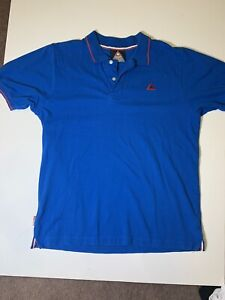 le coq sportif polo Style Short Sleeve Shirt. Size L. Good Condition. Blue