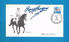 ROY ROGERS AUTOGRAPHED COVER 1988 SIGNED BOLD AUTO