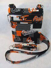 Baltimore Orioles Theme Fabric Crossbody bag w/adj strap