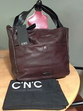 NWT C'N'C Costume National Soft Leather Tote Shopper Purse Handbag Dust Bag too!