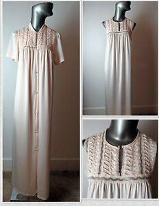 Exceptional 1960s Vintage VANITY FAIR Peignoir Nightgown & Robe - Sz S - USA