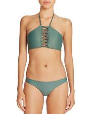 NWT NEW MIKOH Army West of Oz Halter Bikini Swimsuit Set Small $202 mmoh01