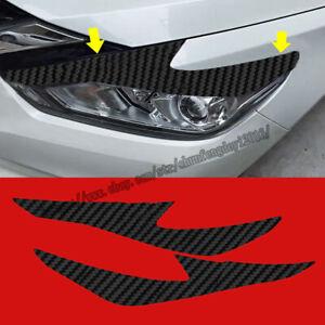 For Nissan Altima 2016-2018 3D Carbon Fiber Car Headlight Eye Brow Cover Sticker