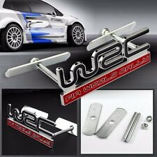 Subaru WRC Metal Red Rally WRX STI Front Grille Grill Badge Emblem Decals