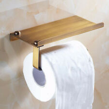 Antique Brass Wall Mounted Square Bathroom Toilet Paper Holder Tissue Bar Hanger