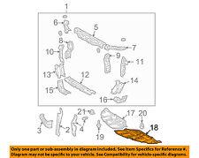 TOYOTA OEM Solara Splash Shield-Under Engine / Radiator Cover Left 5144206040