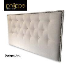 PHILIPPE Upholstered Bedhead / Headboard for King Size Ensemble - NOUGAT