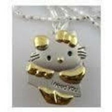 Silver & gold hello kitty collier médaillon watch-J'ai besoin de vous -- UK seller-new