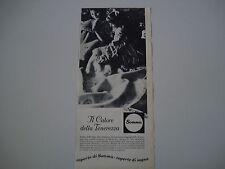 advertising Pubblicità 1962 COPERTE DI SOMMA