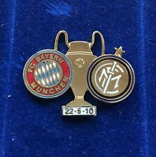 "INTER FC PINS DI PRESTIGIO FINALE DI MADRID 2010 ""PINS 001"" clips (bottone)"
