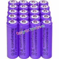 20PCS AA battery batteries Bulk Nickel Hydride Rechargeable NI-MH 3000mAh 1.2V