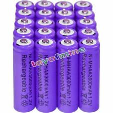 20PCS AA battery batteries Bulk Nickel Hydride Rechargeable NI-MH 3000mAh 1.2V