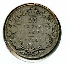 Weeda Canada 1930 silver quarter