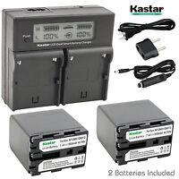Kastar NPQM91D Battery Charger Sony NP-QM91 NP-QM91D DSR-PDX10P,HDR-HC1,HDR-HC1E