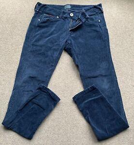 Ladies Tommy Hilfiger Denim Baby Cord Stretch Slim Fit Trousers Jeans 30/32 10