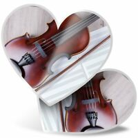 2 x Heart Stickers 7.5 cm - Classical Violin Music Cool  #2646