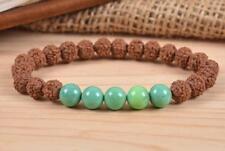 Chrysoprase 8 mm mala lucky bracelet beads men pray buddhist yoga meditation