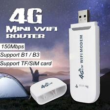 Sans Fil 4G LTE USB Routeur Fiche 150 Mbps Blanc Internet Clé Mobile Haut Débit