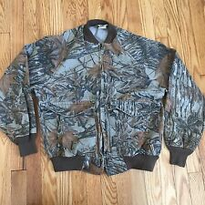 Duxbak Mens M Jacket Realtree Camouflage Camo Cotton Canvas Zip Made in USA t