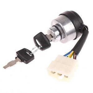 6 Wire Way Gasoline Diesel Generator Gas Ignition Start Key Lock Switch FI