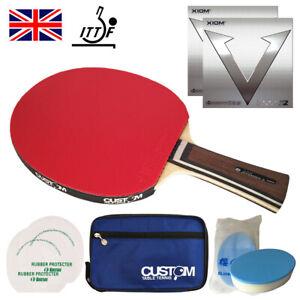 XIOM Classic Offensive S Table Tennis Bat XIOM VEGA PRO Rubbers New UK FAST POST