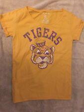 NCAA Old Navy LSU TIGER T-shirt - Yellow w/ Tiger & pocket - New - College Shirt