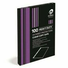 100 Pack – Olympic A4 Heavy Duty Sheet Protectors 141764