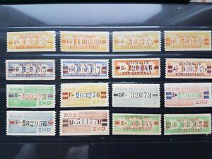 DDR Dienstmarken ZKD schönes Set B 16-31 postfrisch komplett