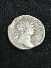Rare Ancient Roman Coin_Silver Trajan Denarius (98-117 A.D)