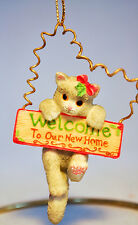 Calico Kittens: Welcome To Our New Home - 104087 - Festive Feline Welcome Sign