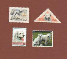 Kuvasz dog postage stamps set of 4 Mnh