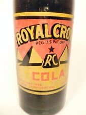 vintage ACL Soda Pop Bottle:  full RC ROYAL CROWN of PITTSBURGH, PA - 10 oz. ACL