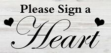 Wedding Sign a Heart table sign with Stand vintage shabby n chic free P&P