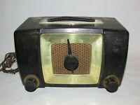 Vintage Zenith AM Long Distance Tube Radio Bakelite Model H-615 Parts or Repair