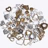 Vintage Antik Herz Liebe Anhänger Mix - Bronze Silber Farbig - Schmuck Basteln