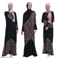 Dubai Abaya Women Reversible Long Dress Muslim Party Gown Islamic Kaftan Jilbab
