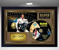 Elvis Presley Aloha from Hawaii SIGNED FRAMED PHOTO CD Disc Perfect gift