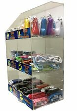 120 Pcs Cell Phone Accessories Display Rack Data Cables Car Chargers Home Aux