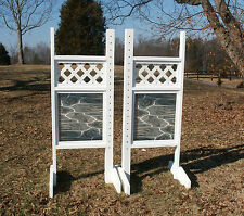 Horse Jumps Lattice Top Stone Bottom Wing Standards 5ft/Pair - Horse Tack #211