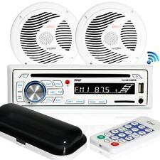 Pyle PLCDBT65MRW Bluetooth Marine Stereo Radio Receiver & Waterproof Speaker Kit