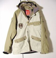 Vtg Sessions Ridge Series Beige Avalanch Rescue Hooded Jacket Sz 2XL