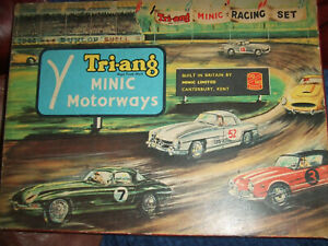 TRI-ANG MINIC MOTORWAYS WITH 2 CARS